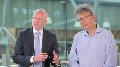 CommBank's Ben Heyes and UNSW's Richard Buckland