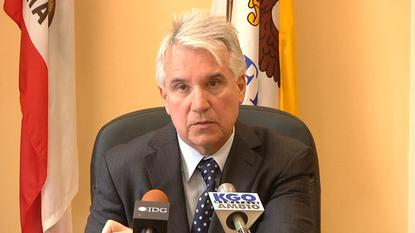 San Francisco Distict Attorney George Gascón speaks to reporters in his office on July 19, 2013