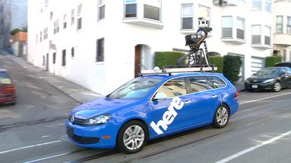A Nokia mapping car in San Francisco