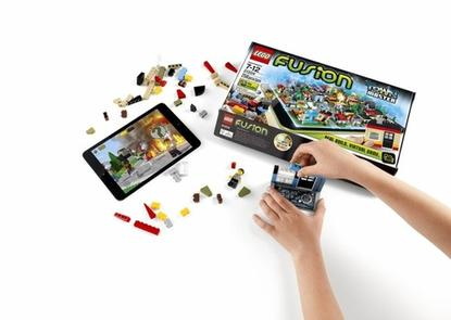 LEGO Fusion sets combine the physical world of building blocks with the virtual world of a tablet/phone app.