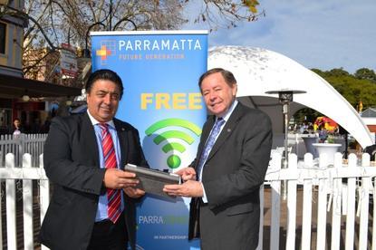 Parramatta lord major, John Chedid and Parramatta councillor, Paul Garrard