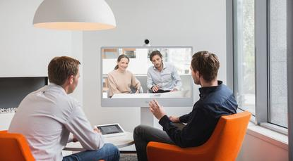 The second generation of the TelePresence MX300 endpoint is a stand-mounted, high-definition (1080p) display with a camera and four-way conferencing capability