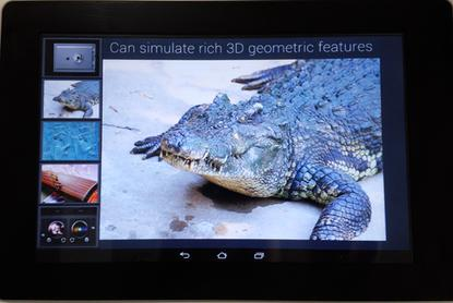 Fujitsu has developed a prototype haptic tablet that uses ultrasound to create a sensation of texture on the screen.