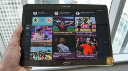 Samsung's new Galaxy Tab S 10.5 has a Super AMOLED with a 2560 by 1600 pixel resolution.