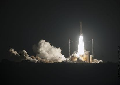 Optus 10 Satellite at launch.