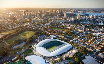 Sydney Football Stadium aerial view