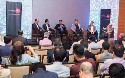 Panel Discussion | Future Channel: Clarence Barboza (Cisco); Gerald Leo (Microsoft); Tiang-Hin Ang (Dell EMC); Ash Willis (Google Cloud); Nick Walton (Amazon Web Services) and James Henderson (Channel Asia)