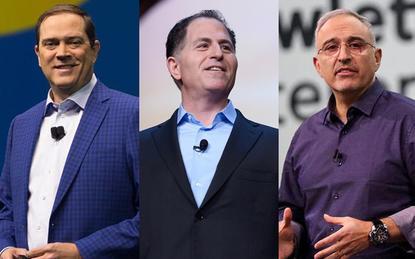 Chuck Robbins (Cisco); Michael Dell (Dell) and Antonio Neri (HPE)