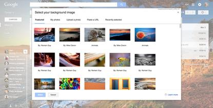 """Top of the list for the new updates are hundreds of new high-resolution theme photos. Google says many of the new photos were uploaded by """"fellow Googlers,"""" but if you don't like any of those you can still upload your own photo."""