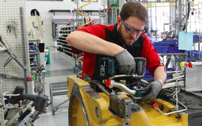 Machinery workers use Glass to see assembly instructions, make reports and get remote video support