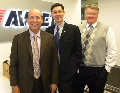 From left: Avnet's Rick Harada, William Chu, and Darren Adams