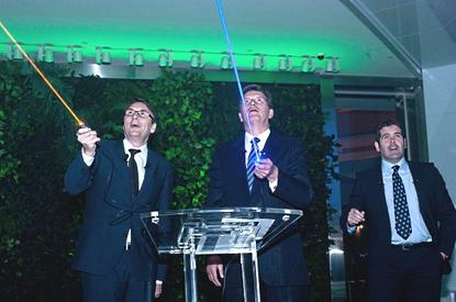 The opening of the Telstra Experience Centre with Victorian premier, Ted Baillieu and Telstra CEO, David Thodey