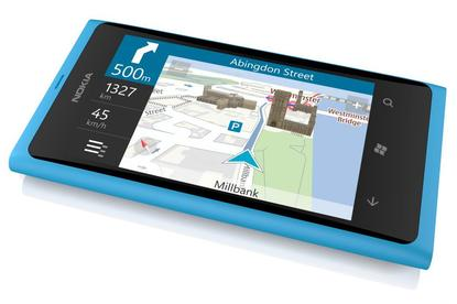 Nokia's Lumia 800 includes Nokia Drive, a free turn-by-turn navigation application