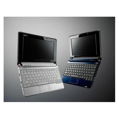 The Atom-equipped Acer Aspire One. Linpus Linux Lite and Windows XP are being offered as operating systems, with Android in the works.