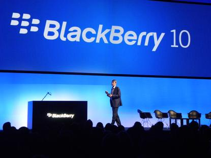 BlackBerry president and CEO, Thorsten Heins, addresses the crowd