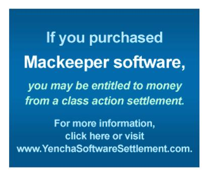 A large Internet advertising campaign is planned to alert those who bought MacKeeper of a class-action settlement.