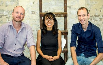 Momentum Cloud co-founders (L-R): Aaron Hughes, Pem Dechen and Oliver Snowdon