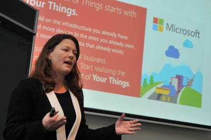 Microsoft Windows Embedded general manager, Barb Edson at the Inter-of-Your-Things event in Sydney.