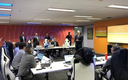 Palo Alto Networks APAC senior vice president Simon Green during the Cyber Range opening in Sydney