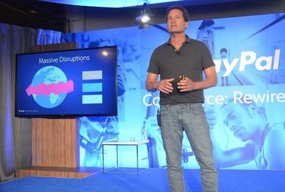 PayPal President and incoming CEO Dan Schulman, speaking during an event in San Francisco on May 21, 2015.