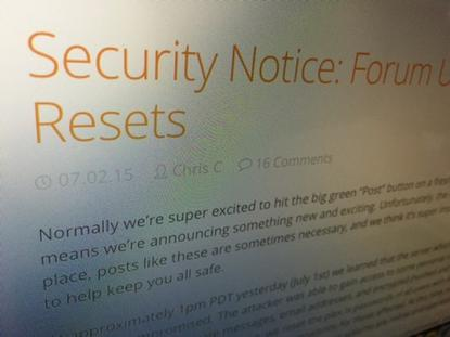 Streaming service Plex has reset some users' passwords after a hacker breached a server hosting its forum and blog.