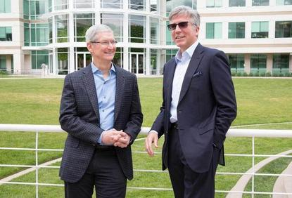 Tim Cook (Apple) and Bill McDermott (SAP)