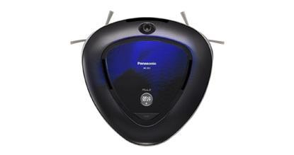 Panasonic's Rulo robot vacuum cleaner has a triangular shape to get into corners.