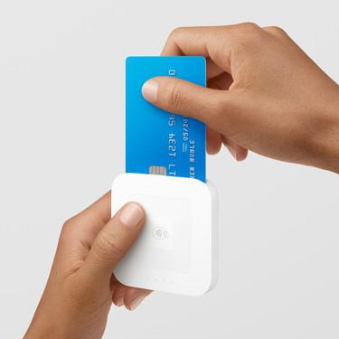 Square introduced this contactless reader for $49 in June for use with chip cards as well as NFC smartphones like the Apple iPhone with Apple Pay.