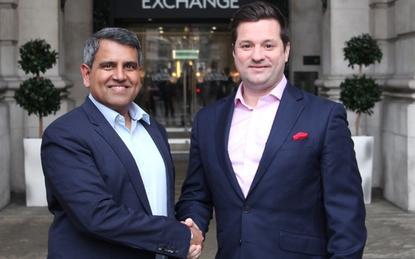 FirstWave's Sundar Bharadwaj and NTT Data UK's Scott Taylor.