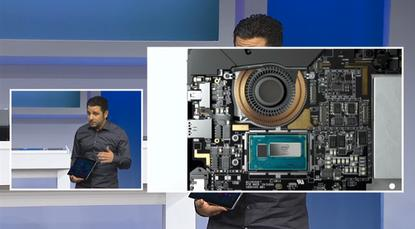 """The Surface Pro 3 isn't fanless, but Panos Panay says """"we reinvented the fan to make it 30 percent more efficient than any fan in any product today, radially emit air so you never feel it or hear it or see it."""""""