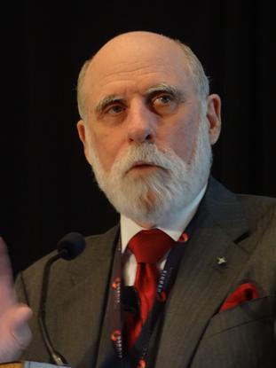 Vint Cerf, at the Usenix LISA conference, San Diego, December 2012