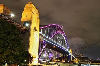 Sydney Harbour Bridge from the Luna Park side, Kirribilli |  Settings: F8, ISO 125, 15 seconds