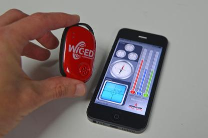 Broadcom's WICED Smart Tag development kit and its included iOS app.
