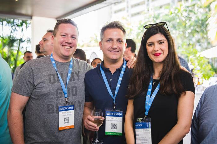 Daniel Johns (ASI), Craig Katz (Hemisphere Technologies) and Gergana Kiryakova (Stickman Consulting)