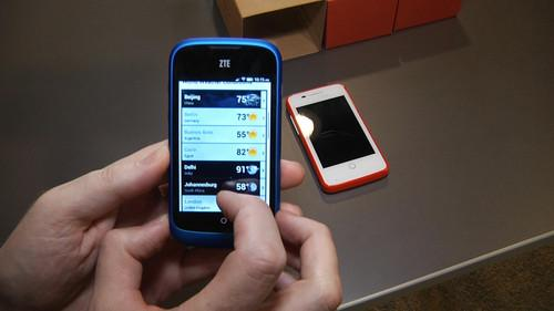 Running Firefox OS on the ZTE Open handset