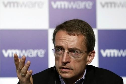VMware CEO Pat Gelsinger at a press conference.