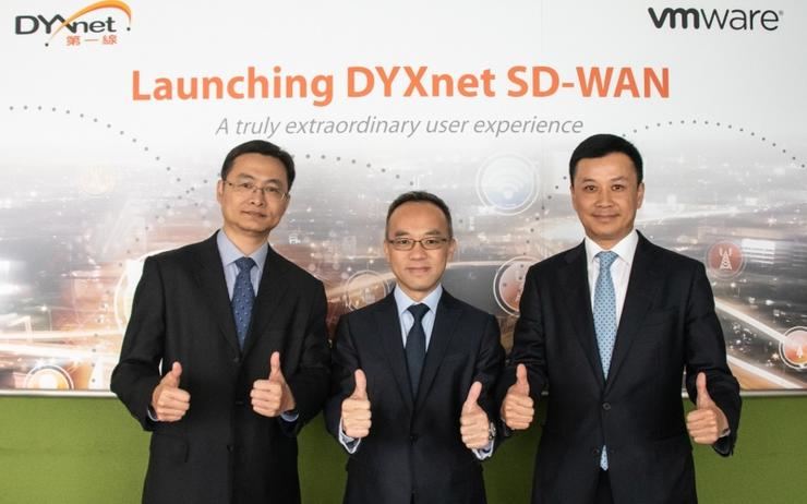 (l-r): Enoch Chan (DYXnet Group), Jacky Wan (DYXnet Group) and Franco Lan (VMware)