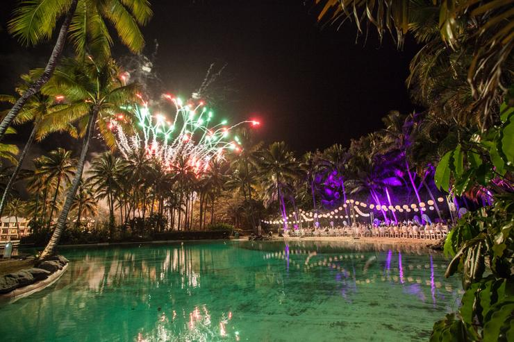 Dinner and fireworks under a tropical sky - it doesn't get much better