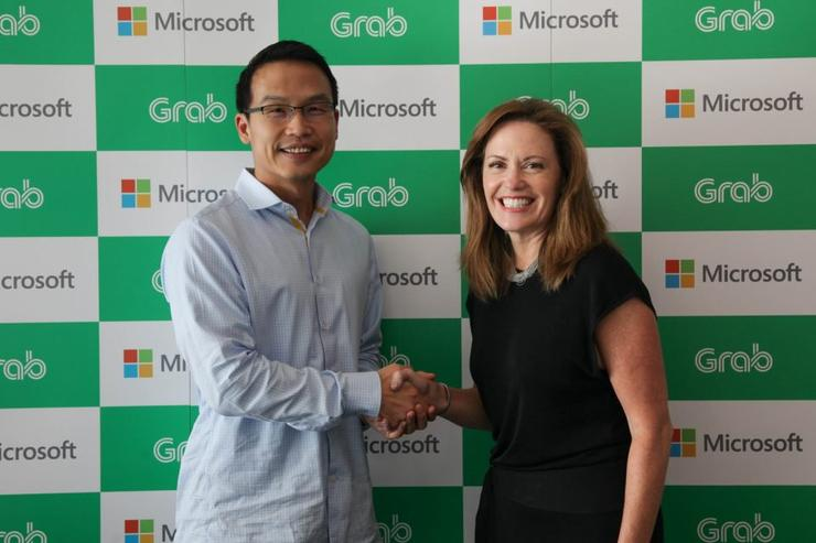 Ming Maa (Grab) and Peggy Johnson (Microsoft)