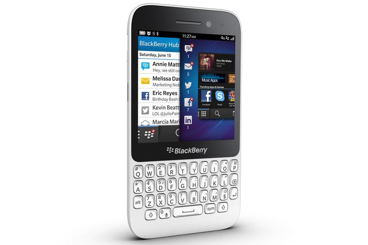 The BlackBerry Q5 smartphone.