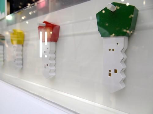Rohm showed its sensor board packed into a device shaped like a key