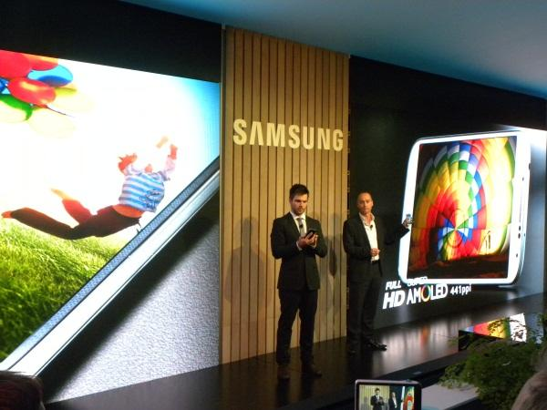 Samsung Electronics Australia telecommunications vice-president, Tyler McGee, talks about the phone's features