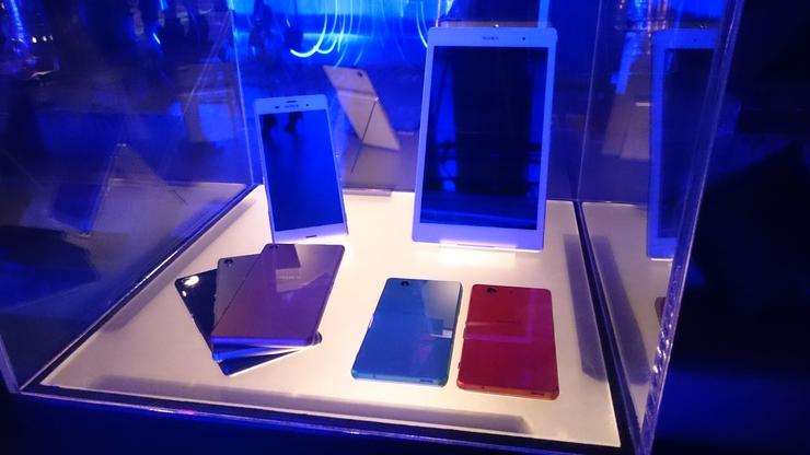 Sony's Xperia Z3 and Z3 Tablet Compact on show.