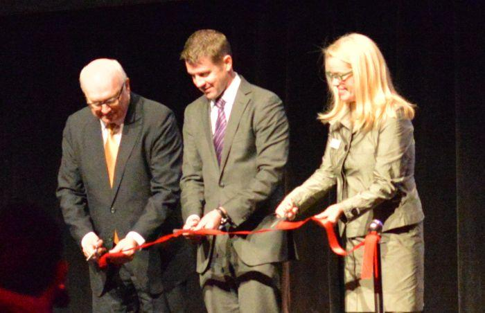 NSW Premier Mike Baird opens CeBIT2014 with Australia's Attorney General, George Brandis