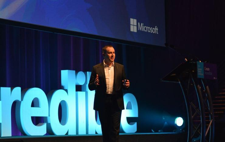 Microsoft's Director, Partner Business & Development, Phil Goldie.