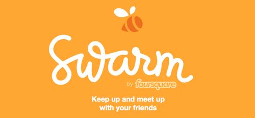 The landing page for Foursquare's upcoming app, Swarm.