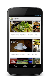 The new Google Maps app on Android incorporates cards into its search tools.