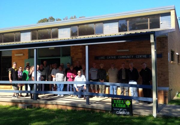 Optus hosts an information day at the Lake Cathie Community Hall in conjunction with the Lake Cathie Progress Association