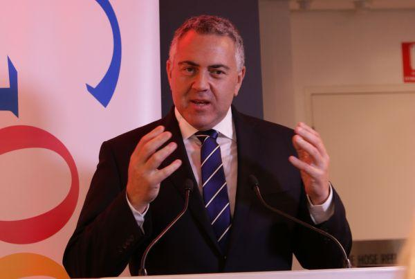 Treasurer and North Sydney MP Joe Hockey, at Google's eTown award ceremony