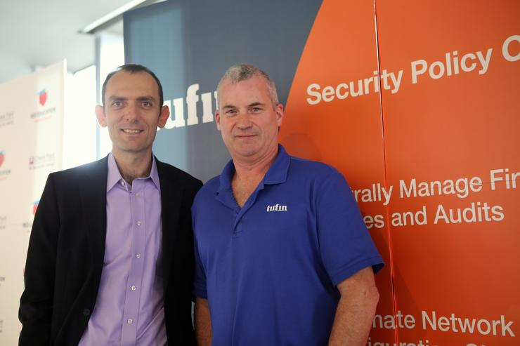 Tufin CEO, Ruvi Kitov, and APAC director, Tim Murphy.